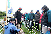 Teagasc staff Eamonn Patten and Glen Corbett with farmers attending 'SHEEP2015', the major National Sheep Open Day hosted by Teagasc at Athenry on Saturday. Photo:- Andrew Downes / xposure.ie  No Fee. Issued on behalf of Teagas