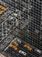 New York . elevated view. reflection on 57 street building  New York - United states  /reflet sur les buiding de la 57em rue  New York - Etats-unis