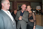DINOS CHAPMAN; JASON BROOKS; INDRE SERPYTYTE;, Charles Finch and  Jay Jopling host dinner in celebration of Frieze Art Fair at the Birley Group's Harry's Bar. London. 10 October 2012.