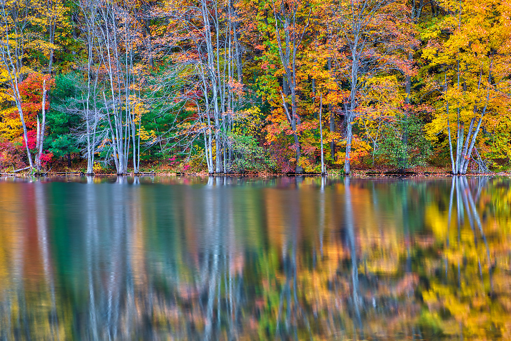 New England fall foliage reflection in Dean Park Pond at Dean Park in Shrewsbury, Massachusetts. <br /> <br /> Massachusetts fall foliage photos are available as museum quality photo, canvas, acrylic, wood or metal prints. Wall art prints may be framed and matted to the individual liking and interior design decoration needs:<br /> <br /> https://juergen-roth.pixels.com/featured/dean-park-juergen-roth.html<br /> <br /> Good light and happy photo making!<br /> <br /> My best,<br /> <br /> Juergen<br /> Licensing: http://www.rothgalleries.com<br /> Photo Prints: http://fineartamerica.com/profiles/juergen-roth.html<br /> Photo Blog: http://whereintheworldisjuergen.blogspot.com<br /> Instagram: https://www.instagram.com/rothgalleries<br /> Twitter: https://twitter.com/naturefineart<br /> Facebook: https://www.facebook.com/naturefineart