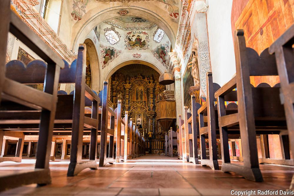 The ornamental San Xavier del Bac Mission.