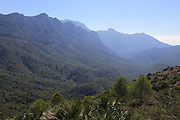 Mountain peaks landscape at Coll de Rates, Tàrbena, Marina Alta, Alicante province, Spain