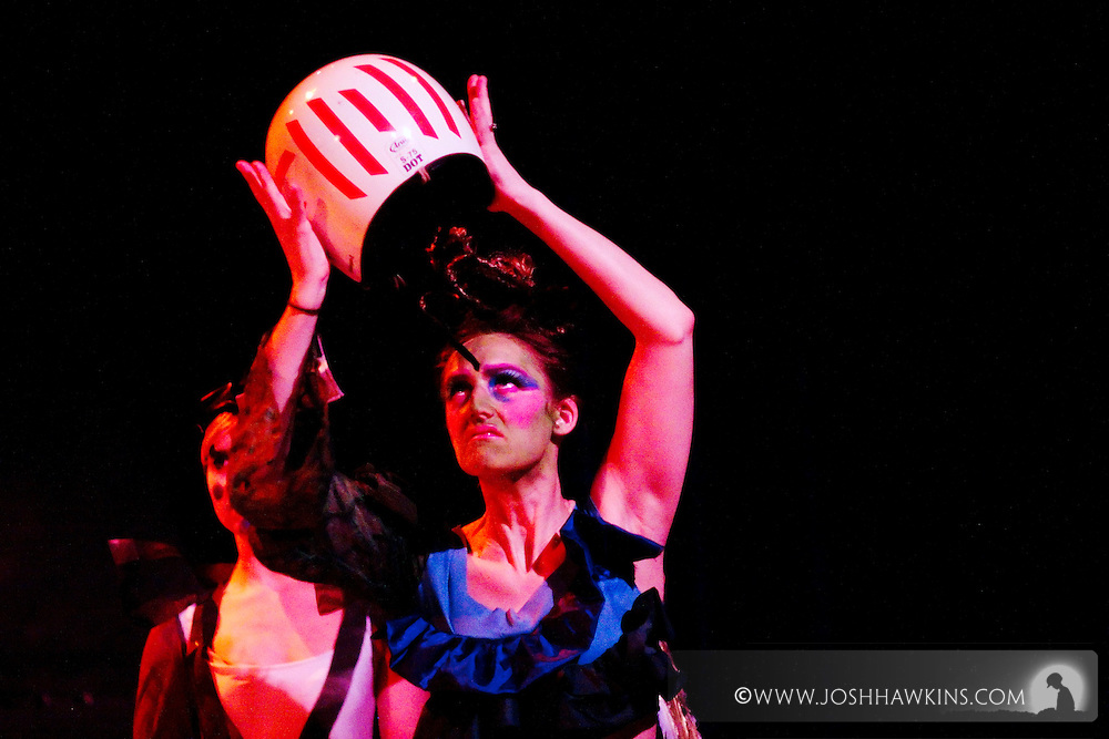 """Chicago Tap Theatre's production """"Changes"""" - A science fiction tap dance opera featuring the music of David Bowie at Stage 773 in Chicago...Kirsten Williams as Aratron"""