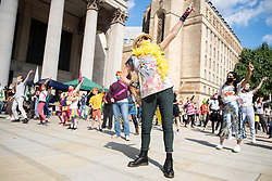 © Licensed to London News Pictures. 01/09/2020. Manchester, UK. Protesters gather for an Extinction Rebellion demonstration in Manchester city centre. Photo credit: Kerry Elsworth/LNP