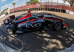 March 9, 2019 - St. Petersburg, FL, U.S. - ST. PETERSBURG, FL - MARCH 09:  driver Ryan Norman (48) during the Indy Lights Race of St. Petersburg on March 9 in St. Petersburg, FL. (Photo by Andrew Bershaw/Icon Sportswire) (Credit Image: © Andrew Bershaw/Icon SMI via ZUMA Press)