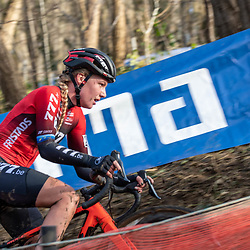 2019-12-15: Cycling: Overijse: Annemarie Worst on her way to another solo win