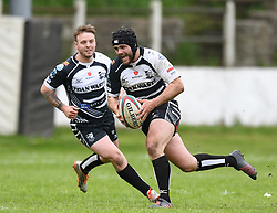 Pontypridd's Alex Knott<br /> Cross Keys v Pontypridd RFC<br /> <br /> Photographer Mike Jones / Replay Images<br /> Pandy Park, Cross Keys.<br /> Wales - 12th May 2018.<br /> <br /> Cross Keys v Pontypridd RFC<br /> Principality Premiership<br /> <br /> World Copyright © Replay Images . All rights reserved. info@replayimages.co.uk - http://replayimages.co.uk