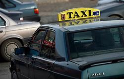 PRISTINA, KOSOVO - DECEMBER 14 - taxi, mercedes, Albancem najljubsi avtomobil
