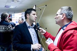 Tomaz Jersic at press conference of Slovenian Handball federation, when presented new web page http://www.rokometna-zveza.si/, on January 15, 2009, in RZS, Ljubljana, Slovenia. (Photo by Vid Ponikvar / Sportida)