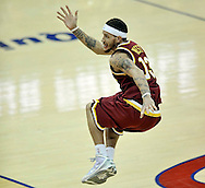 Cleveland Cavaliers' Delonte West leaps in the air while watching a long basket attempt during a game against the Washington Wizards at Quicken Loans Arena on Jan. 6, 2010 in Cleveland. West missed the shot as time expired in the quarter.