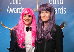 February 17, 2019 - Beverly Hills, California, U.S - Nina Fiore (L) and guest in the red carpet of the 2019 Writers Guild Awards at the Beverly Hilton Hotel on Sunday February 17, 2019 in Beverly Hills, California. JAVIER ROJAS/PI (Credit Image: © Prensa Internacional via ZUMA Wire)