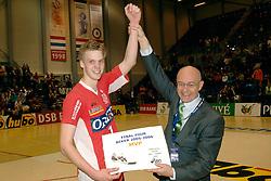 05-03-2006 VOLLEYBAL: FINAL 4 HEREN:  ORION - ORTEC NESSELANDE: ROTTERDAM<br /> In een mooie finale was Nesselande in 3 sets te sterk voor Orion / Jan Willem Snippe<br /> Copyrights2006-WWW.FOTOHOOGENDOORN.NL