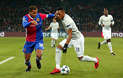 Anthony Martial of Manchester United takes on Manuel Akanji of Basel - Mandatory by-line: Robbie Stephenson/JMP - 22/11/2017 - FOOTBALL - St Jakob-Park - Basel,  - FC Basel v Manchester United - UEFA Champions League Group A