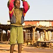 Practising football skills in Koumbadiouma. Kolda, Senegal.