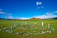 Mongolie, province de Bayankhongor, tombe turc, epoque des Huns // Mongolia, Bayankhongor province, Turkish tomb, Hunnu period