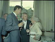24/08/1984<br /> 08/24/1984<br /> 24 August 1984<br /> Opening of ROSC '84 at the Guinness Store House, Dublin. Minister for Finance Alan Dukes chats with ……. and Michael Scott.