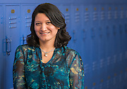 Claudia Morales poses for a photograph at JP Henderson Elementary School, February 12, 2015.