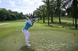 March 22, 2019 - Kuala Lumpur, Malaysia - Yikeun Chang of South Korea hits his tee-shot on the 16th hole on Day Two of the Maybank Championship at at Saujana Golf and Country Club on March 22, 2019 in Kuala Lumpur, Malaysia. (Credit Image: © Chris Jung/NurPhoto via ZUMA Press)