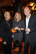 """30 March 2010-New York, NY- l to r: Minnie Richardson, Melissa Scheniger and Eric Scheniger at The Foundation for Social Change Announcement of Grammy Award-Winning Vocalist Patti Austin as The National Spokesperson for The Foundation for Social Change held at Longchamp on March 30, 2010 in Soho, New York City..The Foundation for Social Change mobilizes businesses to implement initiatives that benefit both their bottom line and the economic growth of their surrounding communities. We are a not-for-profit corporation focused primarily on U.S. issues. Our work is based on the principle: ?""""Do good to get good."""""""