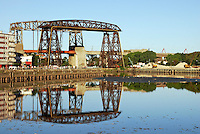 Nicolas Avellaneda Bridge, in La Boca, Buenos Aires, this is a very popular tourist destination in Buenos Aires,