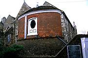 Eighteenth century water tower in churchyard, Rye, East Sussex, England, UK