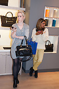 SUSANNA MURRAY-BURTON; SABINA EMRIT, Smythson Sloane St. Store opening. London. 6 February 2012.