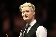 Neil Robertson (Aus) looks on. Ronnie O'Sullivan (Eng) v Neil Robertson (Aus), Quarter-Final match at the Dafabet Masters Snooker 2017, at Alexandra Palace in London on Thursday 19th January 2017.<br /> pic by John Patrick Fletcher, Andrew Orchard sports photography.