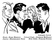 Diplomatic Courier ; Karl Malden , Stephen McNally , Hildegarde Neff and Tyrone Power