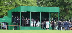 """A park in Altrincham, Manchester is transformed into a Victorian football ground for a match between Darwen v Old Etonian as filming for """"The English Game"""" which is a new drama by """"Downton Abbey """" creator Julian Fellowes begins. The drama is about how modern day football grew and how the FA was formed."""