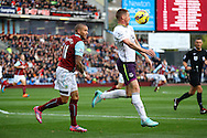 Everton's James McCarthy shields the ball from Burnley's Michael Kightly. Barclays Premier league match, Burnley v Everton at Turf Moor in Burnley, Lancs on Sunday 26th October 2014.<br /> pic by Chris Stading, Andrew Orchard sports photography.