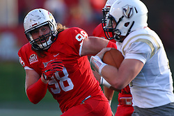 03 September 2016:  Dalton Keene looks to stop the advance of Ryan Clarke. NCAA FCS Football game between Valparaiso Crusaders and Illinois State Redbirds at Hancock Stadium in Normal IL (Photo by Alan Look)