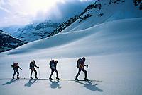 Climbing to Fenetre du Durand, Haute Route, Switzerland