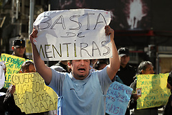 April 26, 2017 - Buenos Aires, Buenos Aires, Argentina - Evicted street vendors protested at Flores neighbourhood. The street vendors protested after being evicted from the streets. (Credit Image: © Claudio Santisteban via ZUMA Wire)