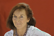 Best-selling British comedy writer Mavis Cheek pictured at the Edinburgh International Book Festival where she talked about latest comedy of manners. The Book Festival was the World's largest literary event and featured writers from around the world. The 2006 event featured around 550 writers and ran from 13-28 August.