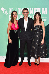 Berenice Bejo, Michel Hazanavicius and Stacy Martin arriving at the London Film Festival Premiere of Redoubtable, at the Embankment Gardens cinema, London. Picture date: Saturday October 7th, 2017. Photo credit should read: Matt Crossick/ EMPICS Entertainment.