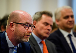© Licensed to London News Pictures. 08/05/2017. London, UK. UKIP party leader PAUL NUTTALL attends a party policy announcement on migration in Westminster, London, ahead of a general election on June 8. Photo credit: Ben Cawthra/LNP