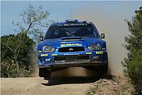 AUTO - WRC 2005 - RALLY ITALIA SARDINIA - OLBIA 01/05/2005 - PHOTO : Digitalsport<br /> N) 5 - PETTER SOLBERG (NOR) - PHIL MILLS / SUBARU IMPREZA WRC - ACTION