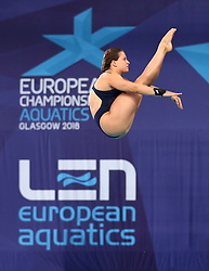 Italy's Noemi Batki during the Mixed Team Diving Final during day five of the 2018 European Championships at the Royal Commonwealth Pool, Edinburgh.