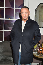 Actor JASON MAZA at a dinner hosted by Autograph Collection Hotels held at 19 Greek Street, Soho, London on 12th October 2016.