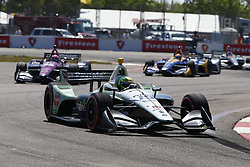 March 11, 2018 - St. Petersburg, Florida, United States of America - March 11, 2018 - St. Petersburg, Florida, USA: Zachary Claman DeMelo (19) battles for position during the Firestone Grand Prix of St. Petersburg at Streets of St. Petersburg in St. Petersburg, Florida. (Credit Image: © Justin R. Noe Asp Inc/ASP via ZUMA Wire)