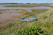 River Deben landscape looking north west from near Shottisham Creek, Ramsholt,  Suffolk, England, UK