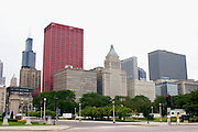 Chicago skyline. Chicago Illinois USA