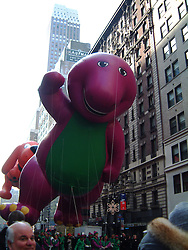 The 75th Anniversary Macy's Thanksgiving Day Parade, 2001..Images of the city of New York, United States of America, taken between 20th-22nd November, 2001..©Michael Schofield.