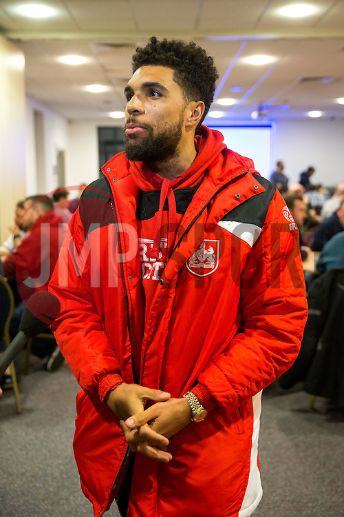 Bristol CIty Community Trust launch their Man v Fat weight loss programme with an induction evening attended by Scott Golbourne of Bristol City who was present to support the attendees - Rogan Thomson/JMP - 23/01/2017 - FOOTBALL - South Bristol Sports Centre - Bristol, England.