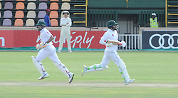 Johannesburg 20-12-18. South Africa Invitation XI vs Pakistan three-day match at Sahara Willowmoore Park, Benoni. Day 2.  Pakistanbatsmen Babar Azam and Azhar Ali during the afternoon session. Picture: Karen Sandison/African News Agency(ANA)