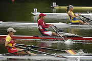 2006 FISA World Cup, Lucerne, SWITZERLAND, 07.07.2006. Women's Single sculls heat,  centre, CZE W1X  Mirka KNAPKOVA, Photo  Peter Spurrier/Intersport Images email images@intersport-images.com.[Friday Morning]...[Mandatory Credit Peter Spurrier/Intersport Images... Rowing Course, Lake Rottsee, Lucerne, SWITZERLAND.