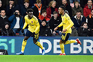 Goal - Bukayo Saka (77) of Arsenal celebrates after he scores a goal beating Mark Travers (42) of AFC Bournemouth to give a 0-1 during the The FA Cup match between Bournemouth and Arsenal at the Vitality Stadium, Bournemouth, England on 27 January 2020.