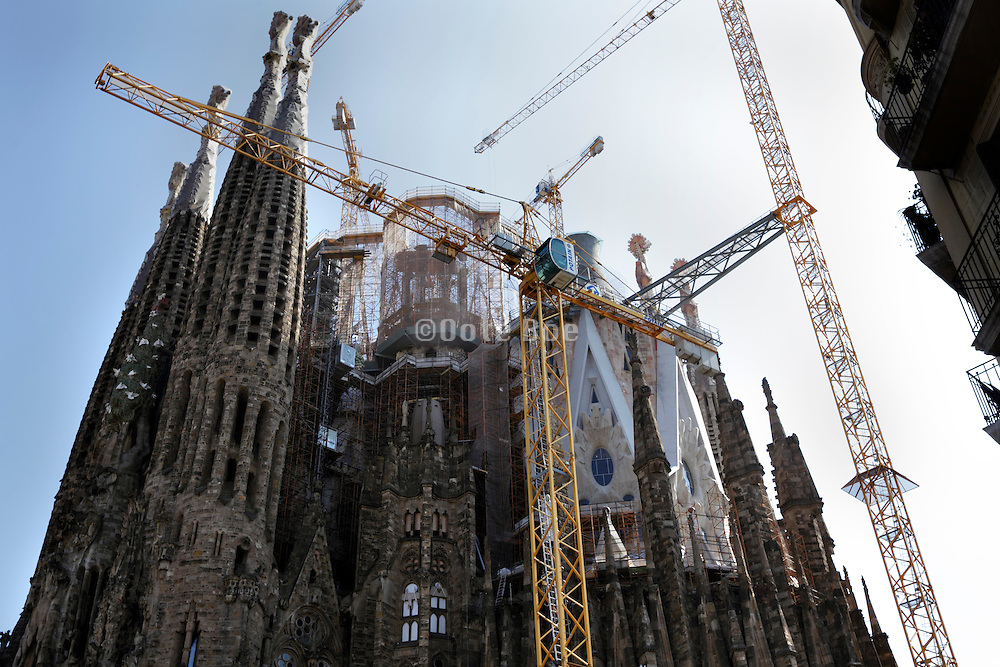 Sagrada Familia Barcelona Spain during final construction