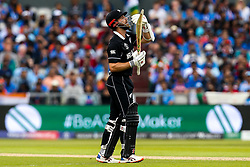 Kane Williamson of New Zealand gestures to the dressing room - Mandatory by-line: Robbie Stephenson/JMP - 09/07/2019 - CRICKET - Old Trafford - Manchester, England - India v New Zealand - ICC Cricket World Cup 2019 - Semi Final