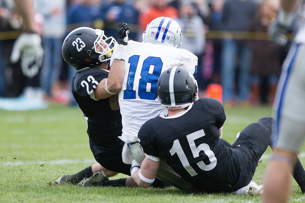 Nick Joseph, of Colby College, during a NCAA Division III football game against Bowdoin College on November 9, 2013 in Waterville, ME. (Dustin Satloff/Colby College Athletics)